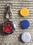 Anhänger Aromatherapie Hundepfote mit Befestigung für das Halsband