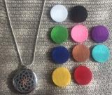 Halskette Aromatherapie Blume des Lebens