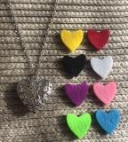 Halskette Aromatherapie hohles Herz mit Pads