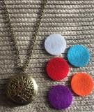 Halskette Aromatherapie Vintage Baum des Lebens in Bronze