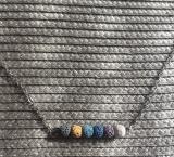 Halskette Aromatherapie kleine Lavasteine bunt